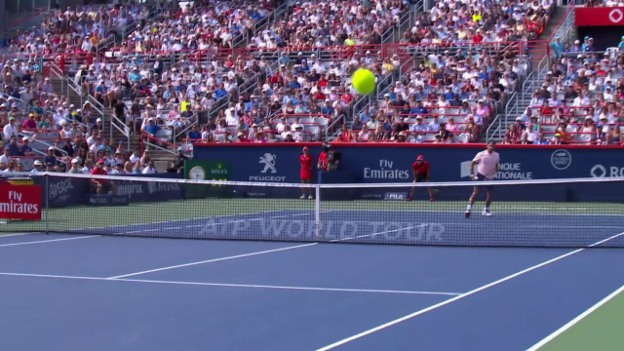 Video «Federer - Bautista Agut: Livehighlights» abspielen