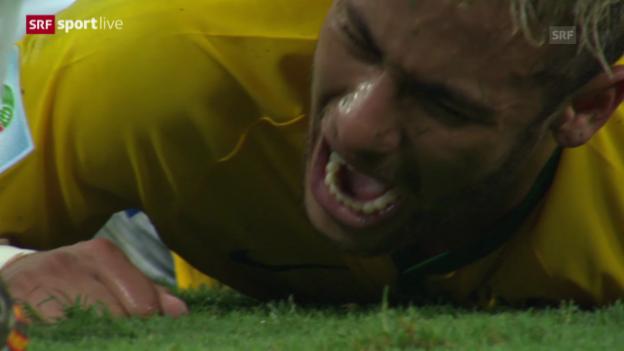 Video «WM 2014: Brasilien verliert Superstar Neymar» abspielen