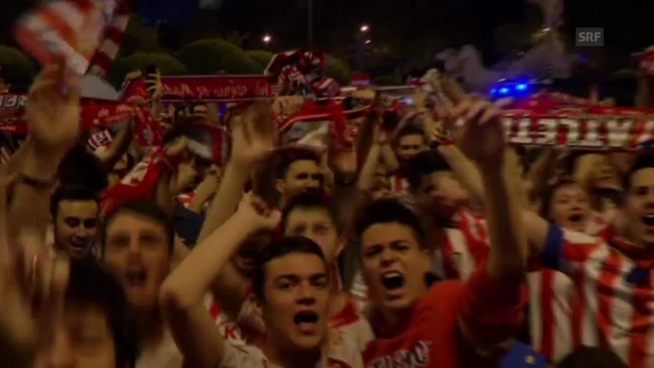 Fussball: Tausende Atletico-Fans feiern den Meistertitel