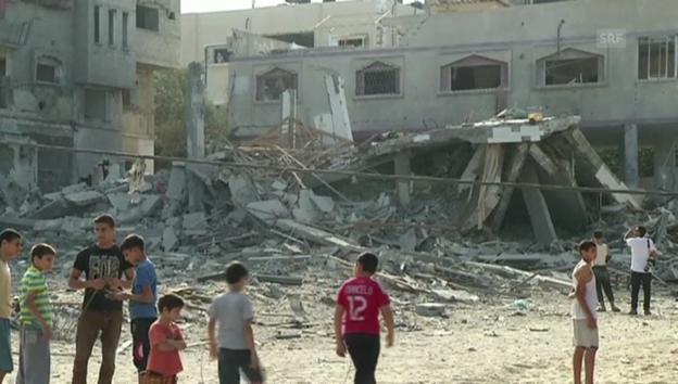 Video «Gaza-Stadt am Montagmorgen (unkommentiert)» abspielen