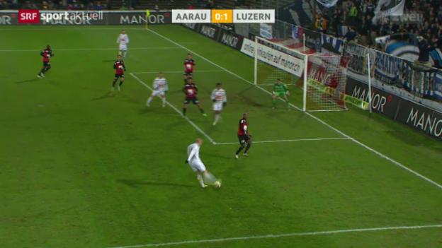 Video «Fussball: Super League, Aarau - Luzern» abspielen