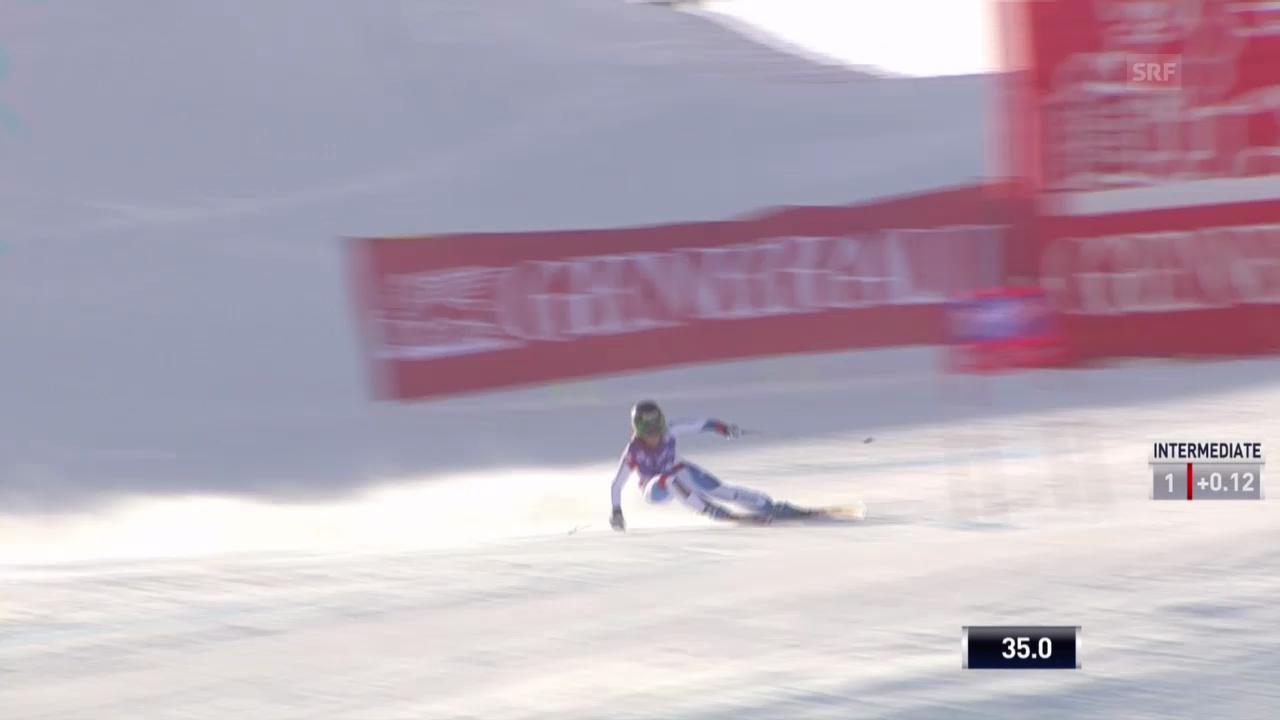 Ski: Die Fahrt von Lara Gut in Val d'Isere