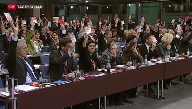 Video «CDU gibt grünes Licht für grosse Koalition» abspielen
