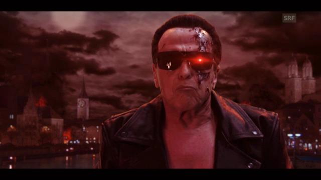 Walter Andreas Müller als Terminator (Werbespot)