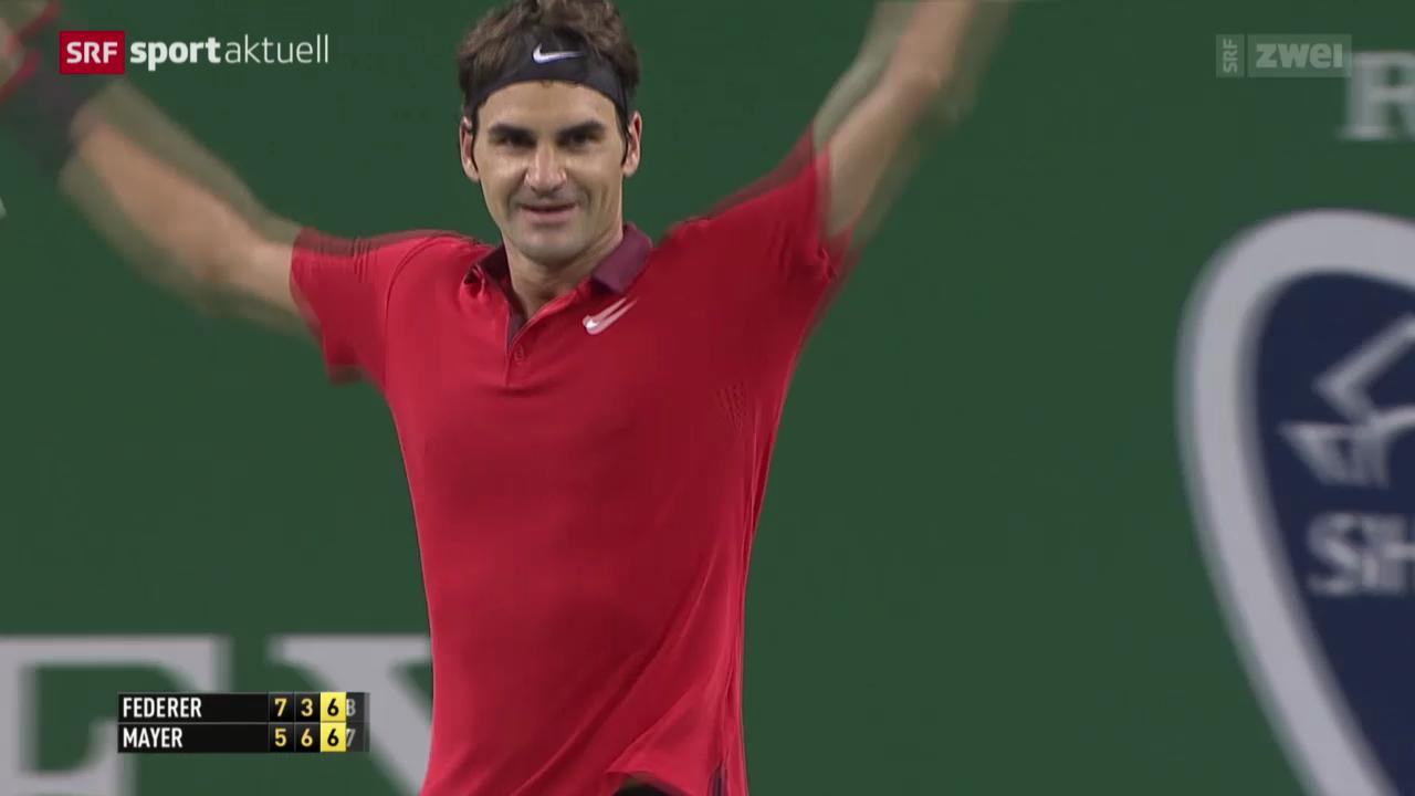 Tennis: ATP Schanghai, Federer - Mayer