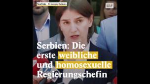 Video «Ana Brnabic, die erste homosexuelle Premierministerin Serbiens» abspielen
