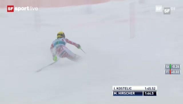 Slalom Adelboden: 2. Lauf Marcel Hirscher («sportlive»)
