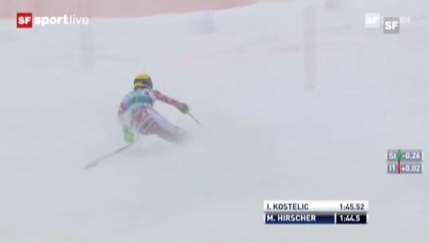 Video «Slalom Adelboden: 2. Lauf Marcel Hirscher («sportlive»)» abspielen