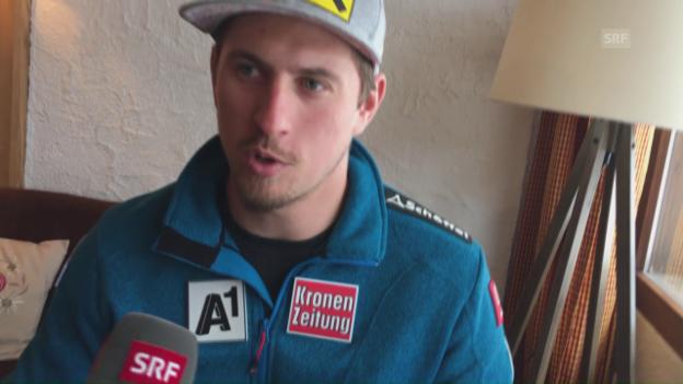 Video «Max Franz vor dem Abfahrtsrennen in Wengen» abspielen