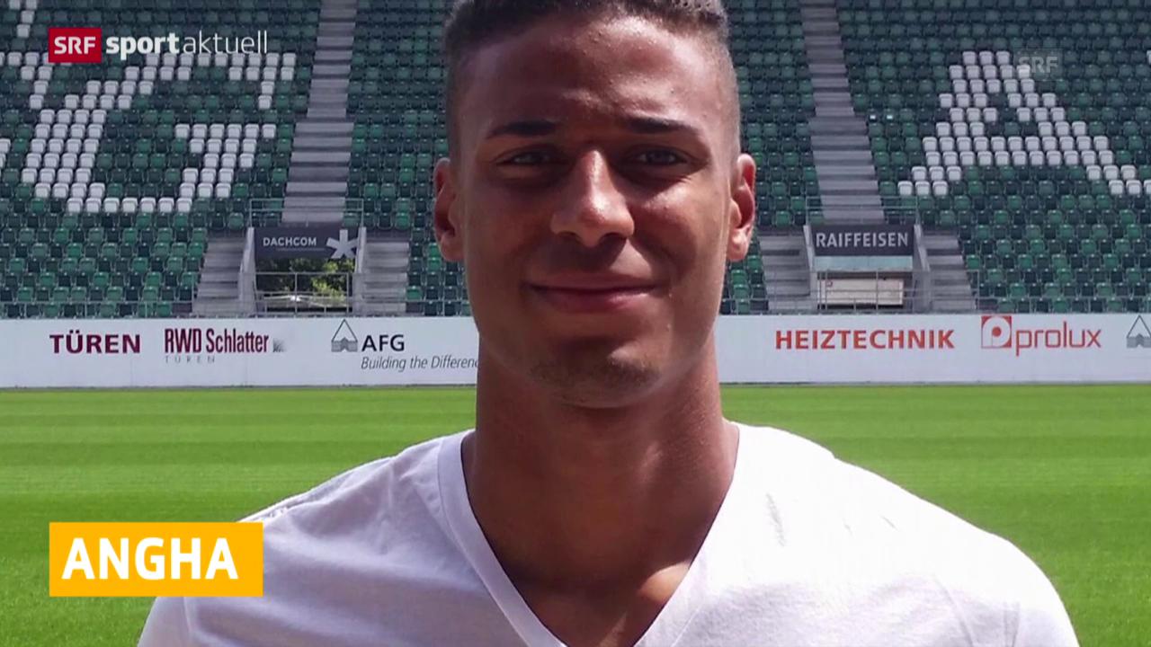 Fussball: Martin Angha von 1860 München zu St. Gallen