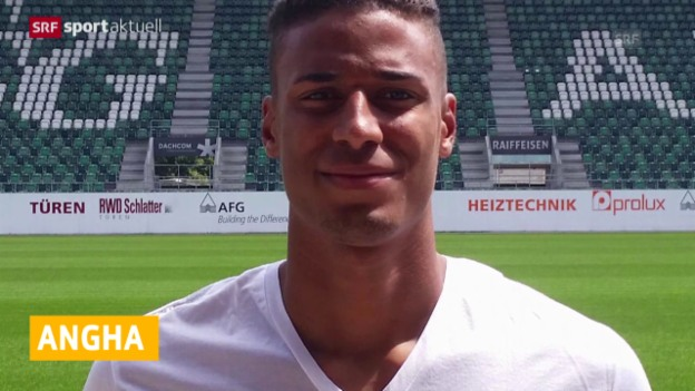 Video «Fussball: Martin Angha von 1860 München zu St. Gallen» abspielen