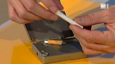 Video «Rauchlose Zigarette: Gaunerbande wieder aktiv» abspielen