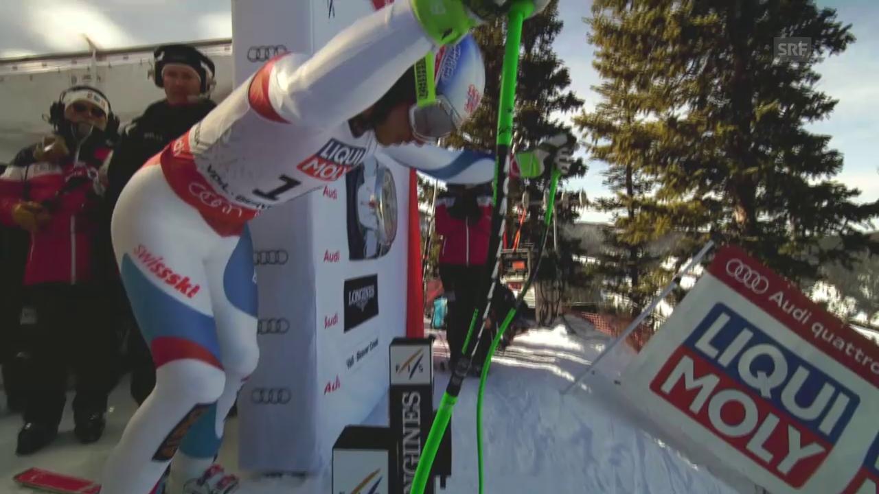 Ski: WM 2015 Vail/Beaver Creek, Super-G Männer, Fahrt von Carlo Janka