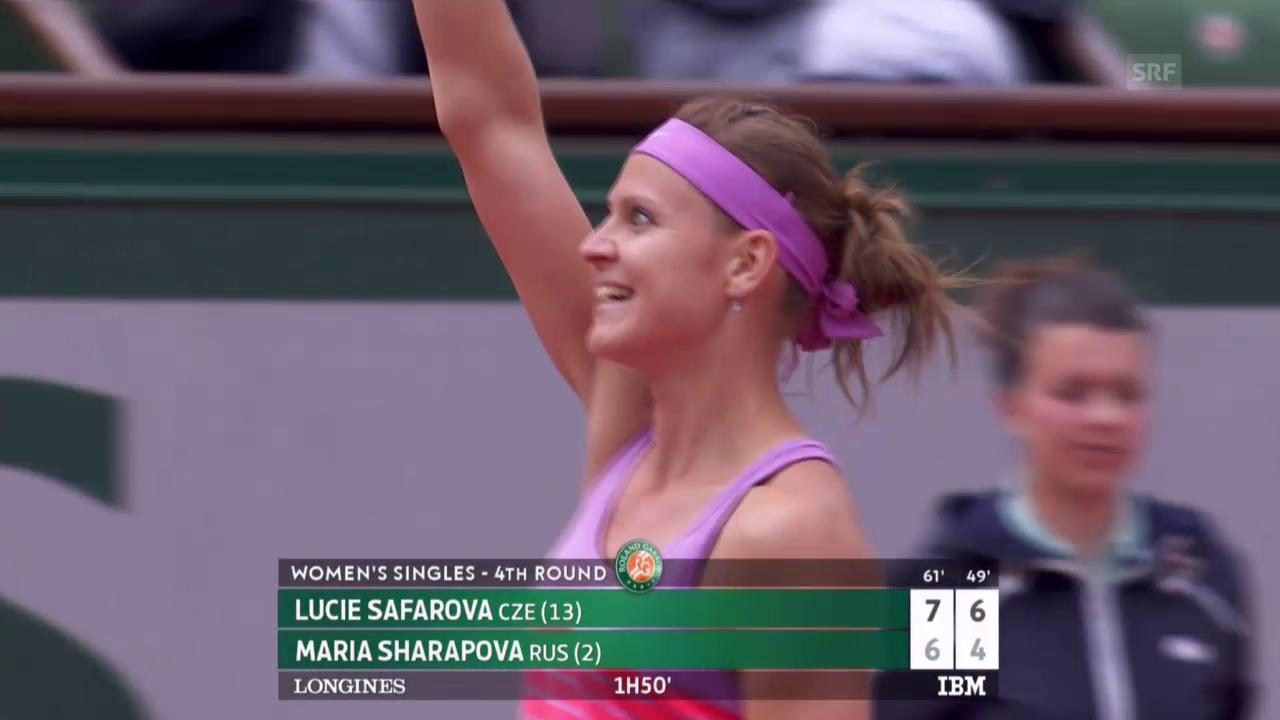 Tennis: French Open, Scharapowa-Safarova, Matchball
