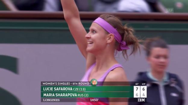 Video «Tennis: French Open, Scharapowa-Safarova, Matchball» abspielen