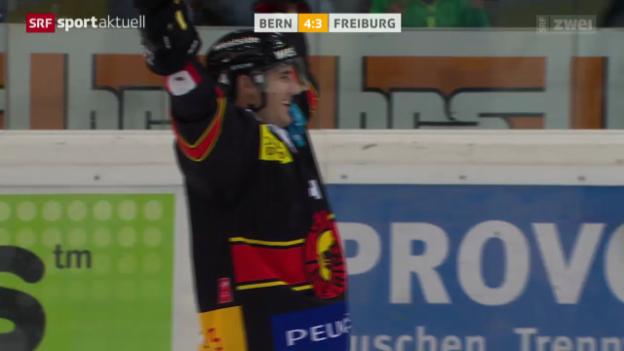 Video «Eishockey: Bern - Fribourg-Gottéron» abspielen