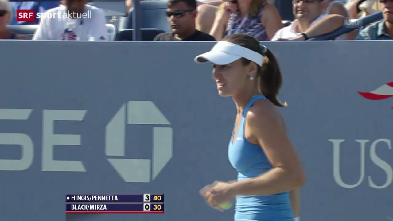 Tennis: Hingis im Doppelfinal der US Open