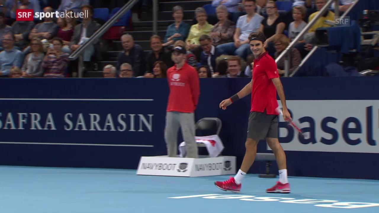 Tennis: ATP Basel 2014, Federer - Dimitrov («sportaktuell» vom 10.01.2015)