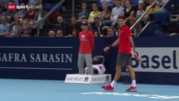 Video «Tennis: ATP Basel 2014, Federer - Dimitrov («sportaktuell» vom 10.01.2015)» abspielen