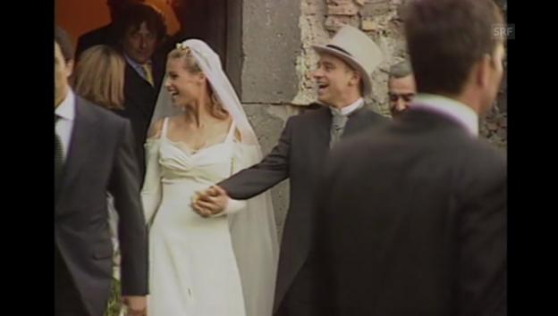 Video «Michelle Hunziker und Eros Ramazzotti heiraten (Agentur-Material, unkommentiert)» abspielen