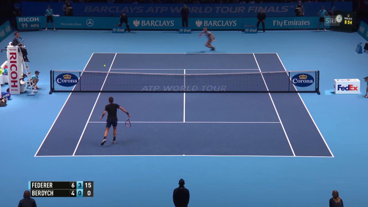 Tennis: ATP Finals, Stoppball Federer