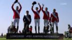 Video «Schweizer Reiter gewinnen Nationenpreis-Prüfung» abspielen