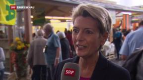 Video «Karin Keller-Sutter kommt an der Olma gut an» abspielen