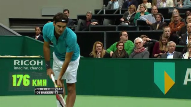 Video «Tennis: Highlights Federer - De Bakker (14.02.2013)» abspielen