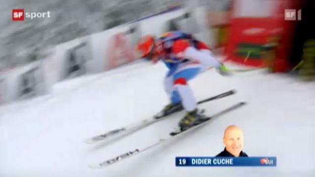 Video «Cuches Siegfahrt in Kitzbühel («sportaktuell» 21.01.2012)» abspielen