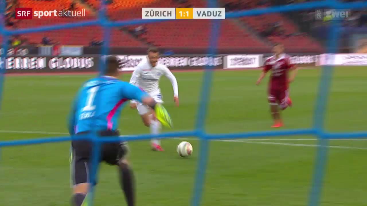 Fussball: Zürich - Vaduz