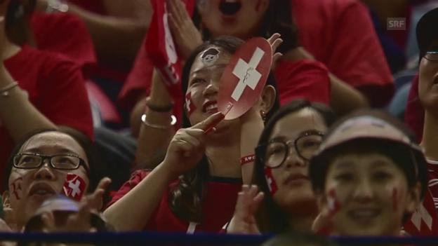 Video ««Federer-Mania» in Schanghai – auch bei Sieg gegen Dolgopolow» abspielen