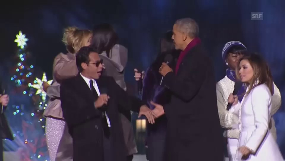 Die Obamas singen mit Musik-Stars