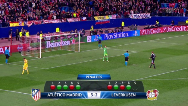 Video «Fussball: Champions League, Penaltyschiessen Atletico - Leverkusen» abspielen