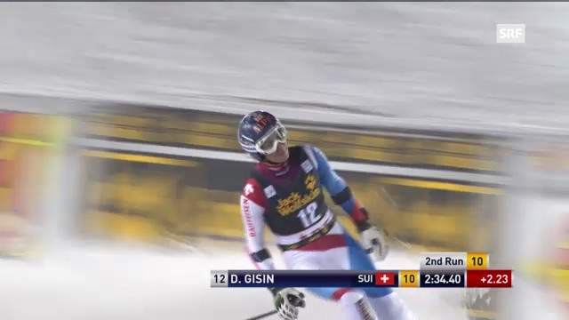 Ski alpin: 2. Lauf von Dominique Gisin beim Riesenslalom in Are