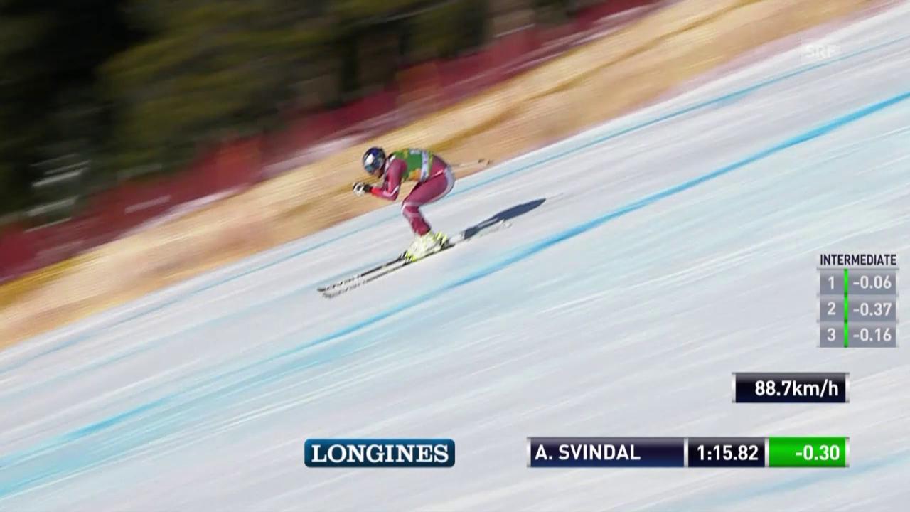 Ski: Super-G Lake Louise, Fahrt Svindal