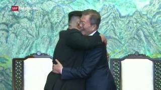 Video «Nord und Südkorea wollen Frieden» abspielen