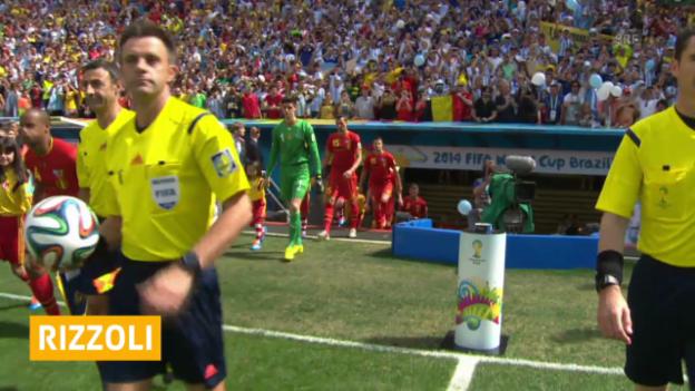 Video «Fussball WM 2014: Rizzoli leitet den WM-Final» abspielen