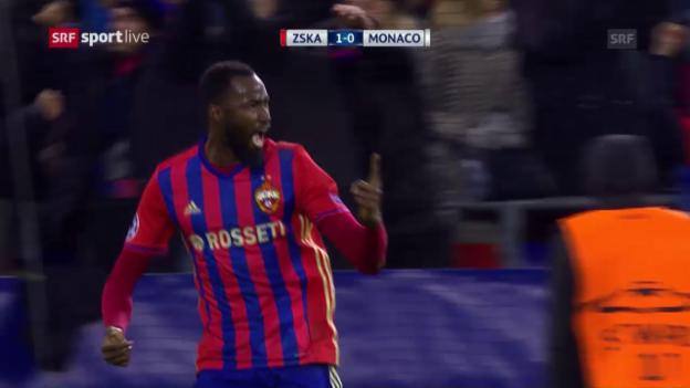 Video «Moskau holt Punkt gegen Monaco» abspielen