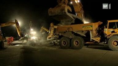 Video «Nachtbaustelle Flughafen» abspielen