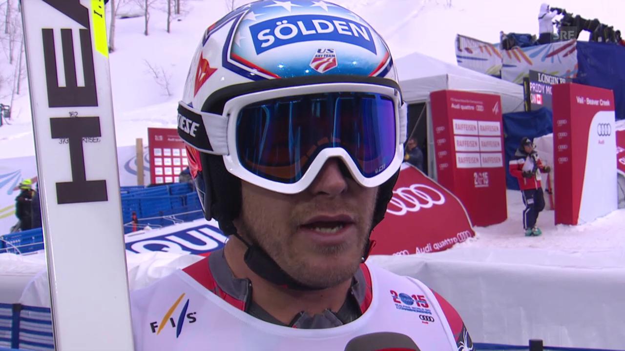 Ski: WM, Bode Miller Interview nach 1. Training Abfahrt