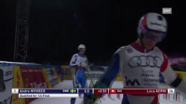 Video «Ski: Parallelslalom München - Die Läufe von Luca Aerni («sportlive»)» abspielen