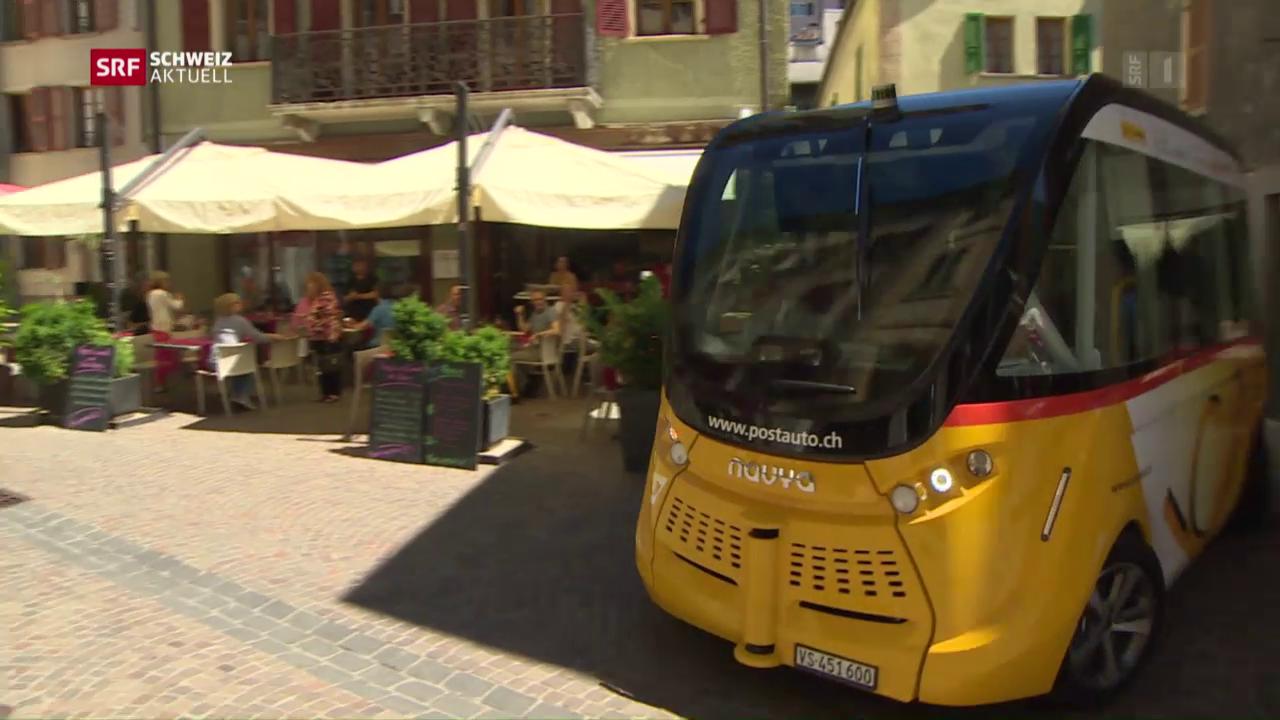 Selbstfahrende Postautos - eine Schweizer Premiere