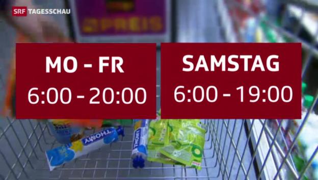 Video «Liberalisierung der Ladenöffnungszeiten geht ans Parlament» abspielen