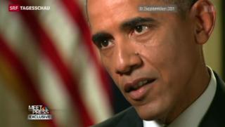 Video «Die Spannung steigt vor Obamas Irak-Rede» abspielen