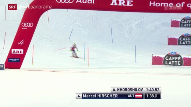 Video «Ski: Weltcup in Are, Slalom Männer» abspielen