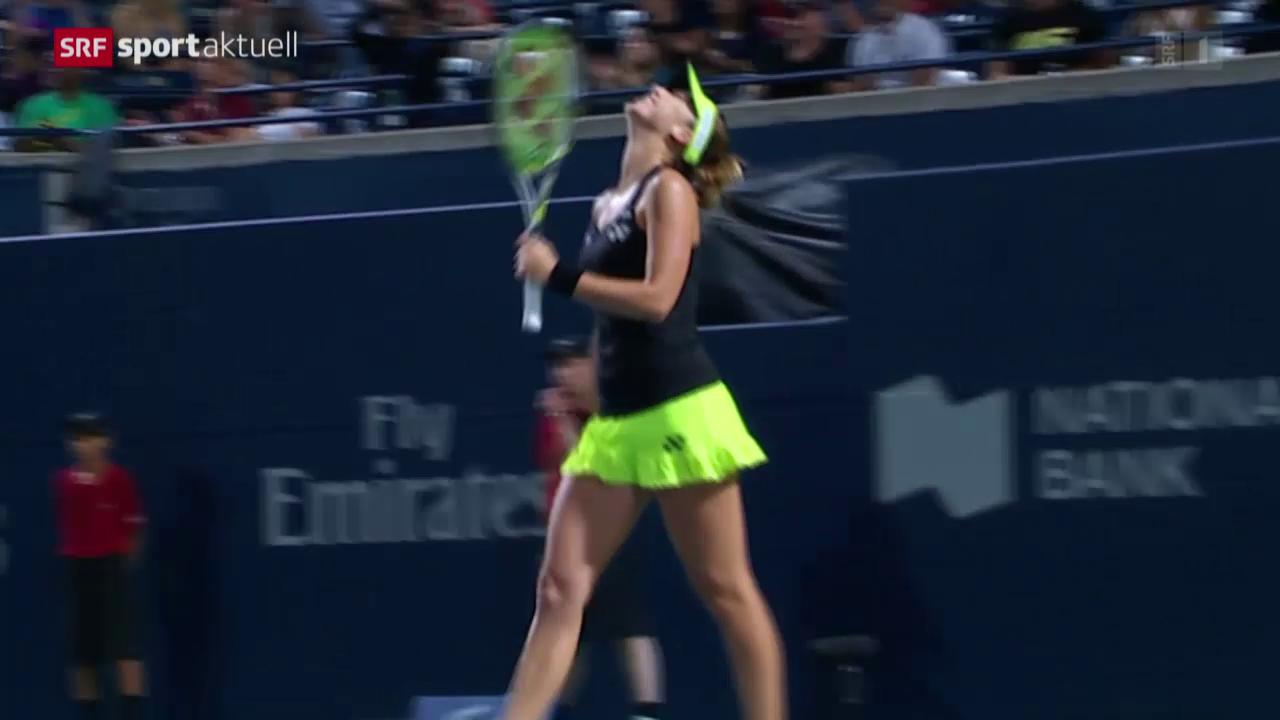 Tennis: Belinda Bencic in Toronto im Halbfinal
