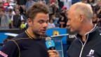 Video «Tennis: Wawrinkas Drittrunden-Spiel in Melbourne» abspielen