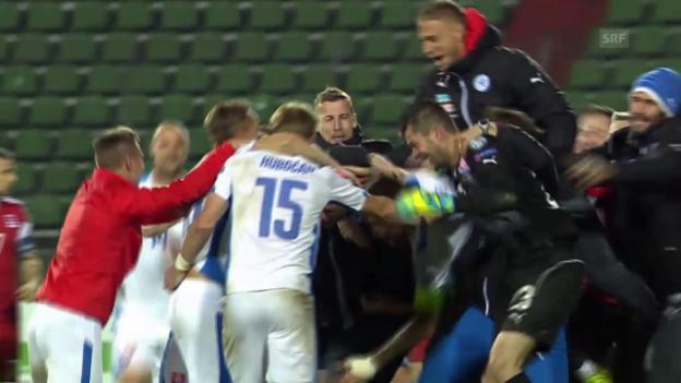 Video «Fussball. EM-Qualifikation, Ukraine-Spanien und Luxemburg-Slowakei» abspielen