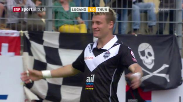 Video «Lugano kommt Europacup einen Schritt näher» abspielen
