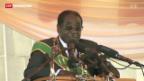 Video «Erster öffentlicher Auftritt Robert Mugabes» abspielen